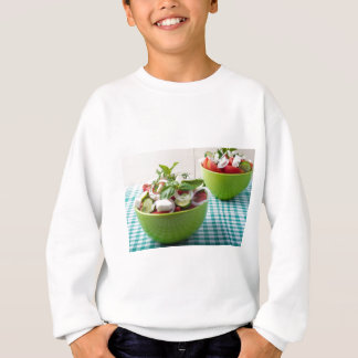 Vegetable vegetarian salad with raw tomato sweatshirt