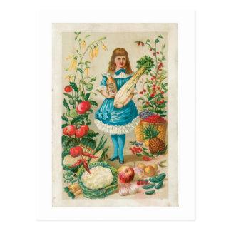 Vegetable Vintage Food Ad Art Post Card