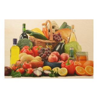 Vegetable Wood Print