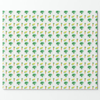 Vegetable wrapping paper with seamless pattern
