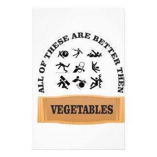 vegetable yuck stationery