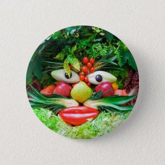 Vegetables 2 Inch Round Button