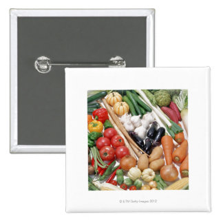 Vegetables 6 2 inch square button