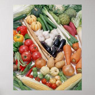 Vegetables 6 poster