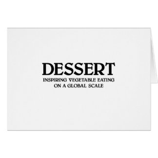 Vegetables and Dessert Greeting Card