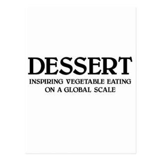 Vegetables and Dessert Postcard