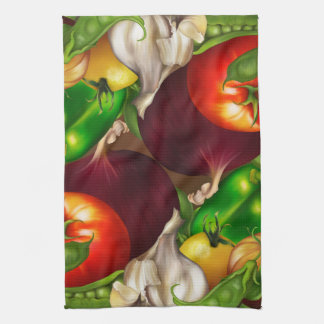 Vegetables and Herbs Organic Natural Fresh Food Kitchen Towel