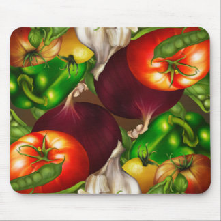 Vegetables and Herbs Organic Natural Fresh Food Mouse Pad