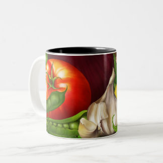 Vegetables and Herbs Organic Natural Fresh Food Two-Tone Coffee Mug