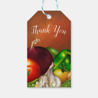 Vegetables and Herbs Organic Natural Veggies Food Gift Tags