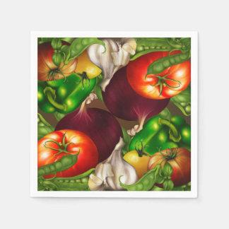 Vegetables and Herbs Organic Natural Veggies Food Napkin