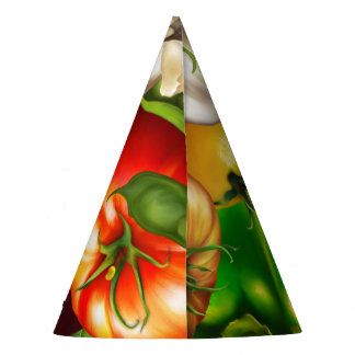 Vegetables and Herbs Organic Natural Veggies Food Party Hat