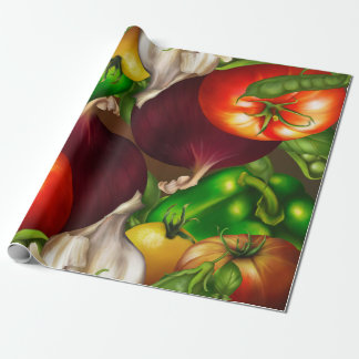 Vegetables and Herbs Organic Natural Veggies Food Wrapping Paper