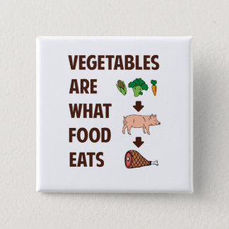 Vegetables Are What Food Eats 2 Inch Square Button
