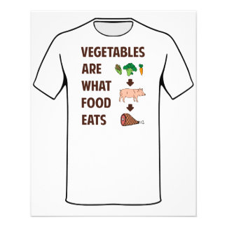 Vegetables Are What Food Eats Flyer