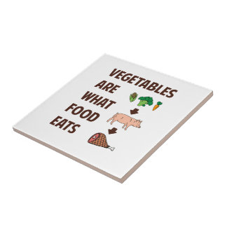 Vegetables Are What Food Eats Tile