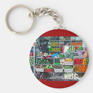 Vegetables as Art Keychain