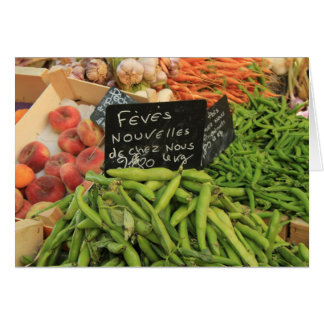 vegetables at a market in the Provence Card