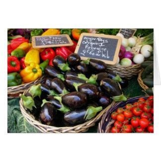 Vegetables at Nice Fruit Market, France Card