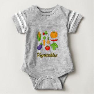 vegetables baby bodysuit