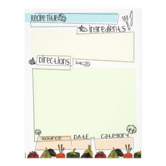 Vegetables border funky recipe letterhead