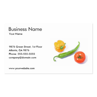 Vegetables Business Card Template