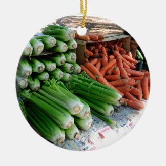 vegetables ceramic ornament