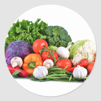 vegetables classic round sticker