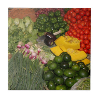 Vegetables Fresh Ripe Garden Mixed Harvest Market Tile