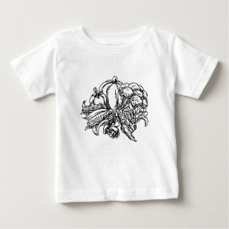 Vegetables Grunge Style Hand Drawn Icon Baby T-Shirt