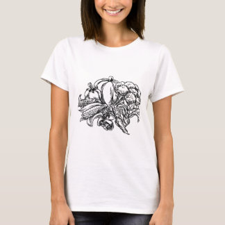 Vegetables Grunge Style Hand Drawn Icon T-Shirt