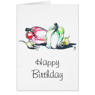 Vegetables Happy Birthday Card