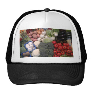 Vegetables health food organic store display trucker hat