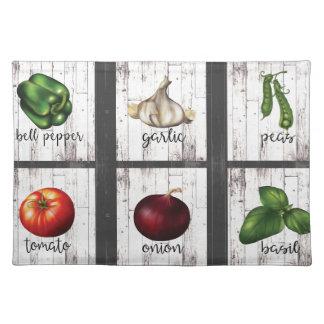 Vegetables & Herbs Rustic Modern Garden Kitchen Placemat