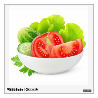 Vegetables in a bowl wall decal