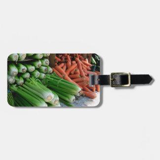 vegetables luggage tag