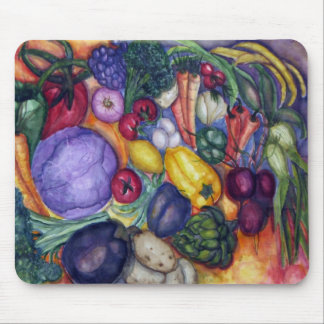 Vegetables painting mouse pad