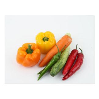 Vegetables. Postcard