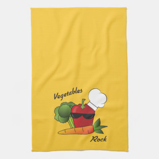 Vegetables Rock Kitchen Towel