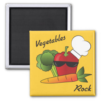 Vegetables Rock Magnet