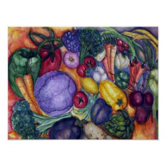 Vegetables Watercolor Poster