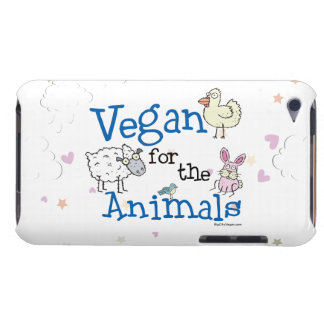 Végétalien pour les animaux coques iPod Case-Mate