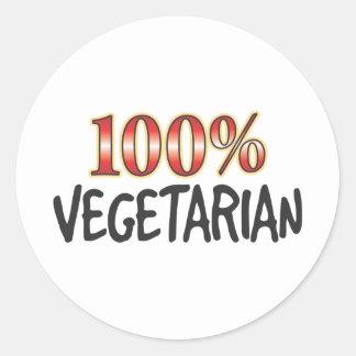 Vegetarian 100 Percent Round Sticker