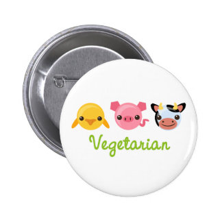 Vegetarian 2 Inch Round Button