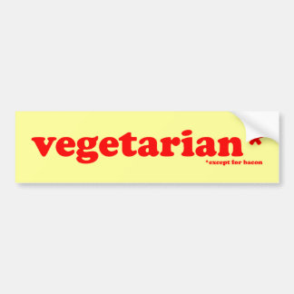 vegetarian bumper sticker