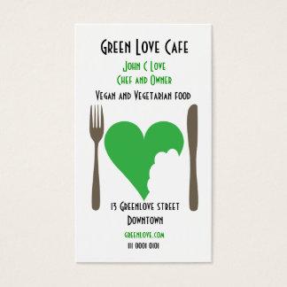 Vegetarian Cafe business card