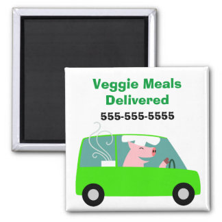 Vegetarian Catering Delivery Magnet