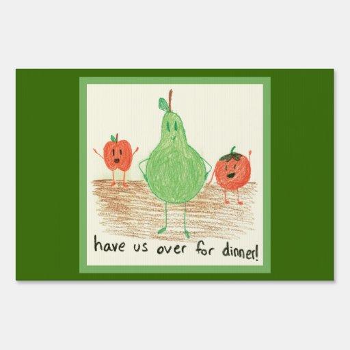 Vegetarian, Children's Art Lawn Sign