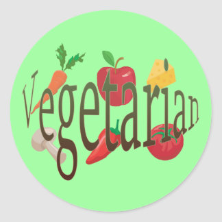 Vegetarian Classic Round Sticker