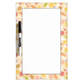Vegetarian cooking pattern background dry erase board